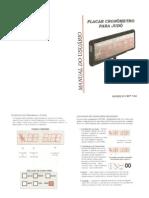 Placar eletrônico Judô - Manual do usuário