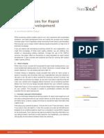 Best Practices for Rapid Content Development
