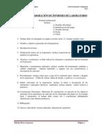 Pauta para elaboración y evaluación de informes de laboratorio Inst. inteligente