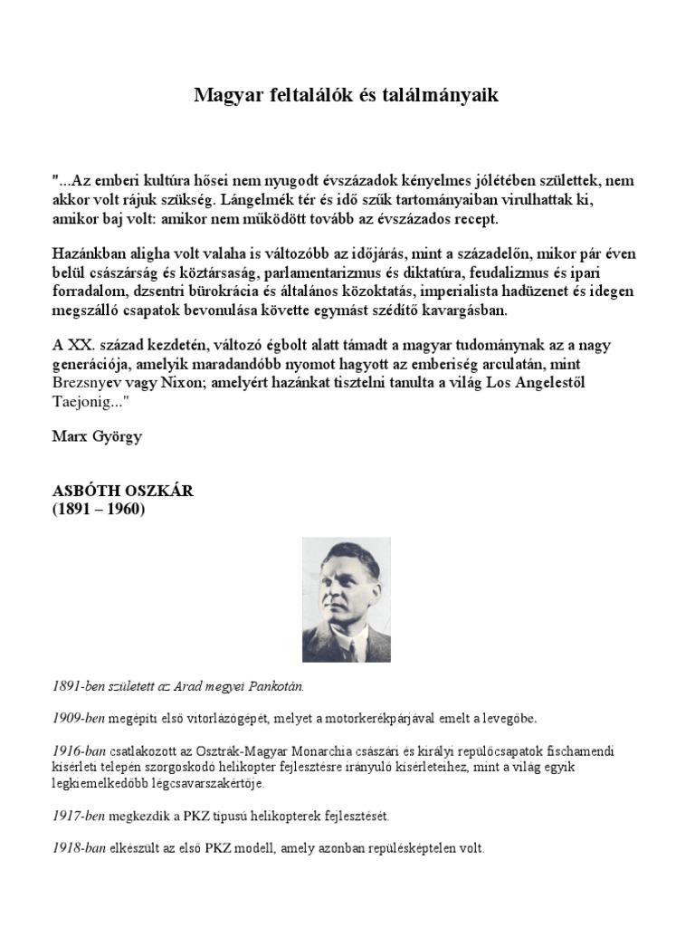 Magyar Feltalalok Es Talalmanyaik f57d0e62f2