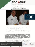 06-07-11 Promueve PRI innovaciones al marco normativo del Sector Ganadero