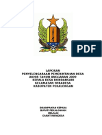 LPPD Akhir Tahun Anggaran Desa Bond an Sari