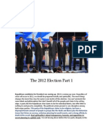 The 2012 Election Part 1