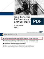 Fine Tuning Performance SAP Enterprise Portal