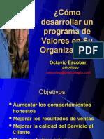 Cómo desarrollar Programa Valores