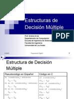 Estructura y Ejercicion Desicion Multiple