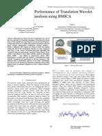 Improving the Performance of Translation Wavelet Transform using BMICA