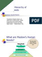 1.01 MaslowÆs Hierarchy of Needs