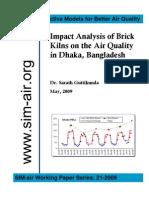 Dhaka Air Quality Brick Kilns