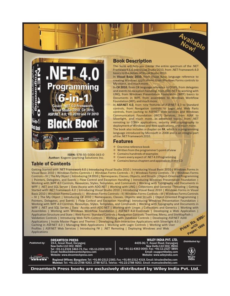 6 press. black book 2012 java programming dreamtech
