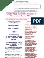 The DECODED Illuminati's Protocols of the Learned Elders of Zion