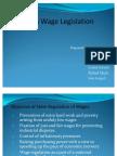 Minimum Wages Legislation