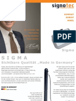 signotec Produktflyer Signaturpad Sigma (dt.)