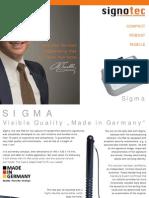signotec Product Flyer Signaturepad Sigma (eng.)