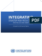 Integrating disaster risk reduction into the CCA and UNDAF - A guide for UN Country Teams (UNDG - 2011)