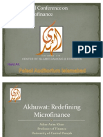 Akhuwat Redefining Micro Finance by Prof. Ather Azeem