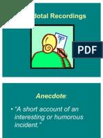 Anecdotal Records Info