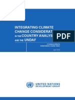 Integrating climate change considerations in the country analysis and the UNDAF - A guidance note for UNCT (UNDG - 2010)