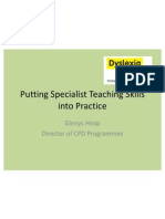 Glenys Heap - Putting Specialist Teaching Skills Into Practice - Dyslexia Guild Summer Conference 2011