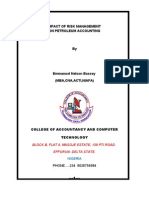 Impact of Risk Management in Petroleum Accounting