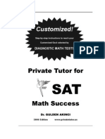 (M) SAT Math Preparation Book (400 Pages) by Dr Gulden Akinci {Crouch88}