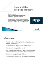 Competion & Transgenic Seed Industry 2009