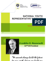 NATIONAL YOUTH REPRESENTATIVE'S REPORT