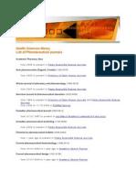 List of Pharmaceutical E-journals