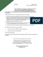 FMI Raport Romania Sept Em Brie 2010