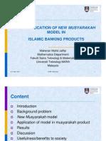 The Application of New Musharaka Models by Dr Maheran Mohd Jaffar