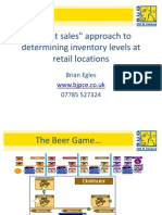 A Lost Sales Approach to Determining Inventory Levels at Retail Locations - 2010 SAP Conference