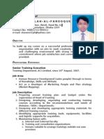 CV of Md. Abdullah Al Farooque
