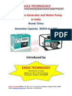 Eagle Technology introduces Lowest Prices Diesel Generator in India