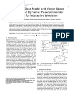 An Efficient Data Model and Vector Space Model Based Dynamic TV-recommender system for Interactive television