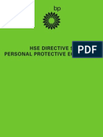 HSE Directive 9 Personal Protection Equipment