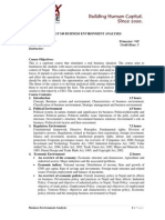Business Environment Analysis