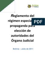 to de Regimen Especial de Propaganda Electoral