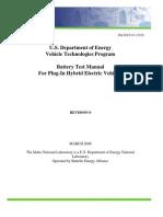 Battery Test Manual for Plug in HEV Rev 0