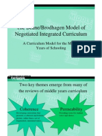 Integrated Model of Curriculum