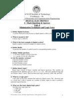 Digital Electronics Question bank ,  Digital Electronics 2 Mark Questions & Answers