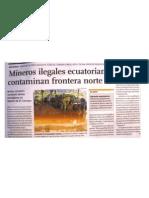 Mineros ecuatorianos contaminan ríos peruanos