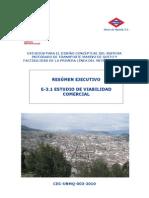 Resumen Ejecutivo E-3.1 Estudio de Factibilidad Comercial