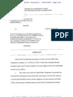 July 6 Suit Against Walker Bill