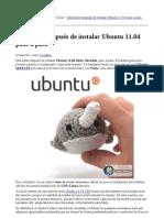 Que Hacer Despues de Instalar Ubuntu 11.04 Paso a Paso