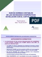 Nuevas Normas Contables de las Sociedades Cooperativas