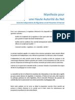 Manifeste Pour Une Haute Autorite Du Net 07-07-11
