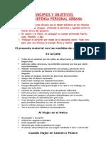 Principios y Objetivos de La Defensa Personal