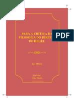 Marx Karl Para a Critica Da Filosofia Do Direito de Hegel