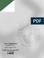 Law Compilation, Consti 1, Chapter 3 Syllabus (2011)