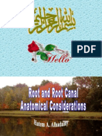 Root Canal Anatomy[Lecture by Dr.Hatem Al Hadainy @AmCoFam]
